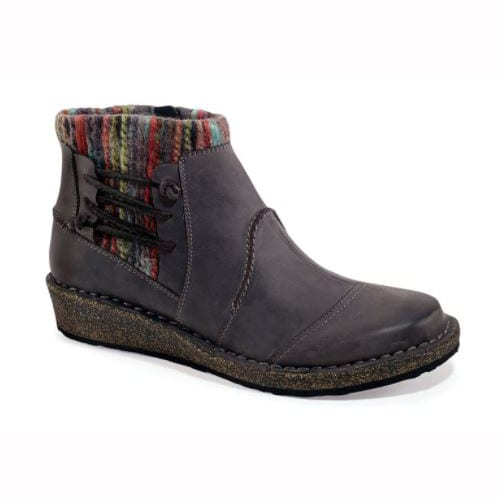 AETREX WOMEN'S TESSA SWEATER ANKLE BOOT CHARCOAL