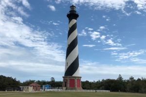 Work is beginning on the Cape Hatteras Lighthouse. Credit, NPS.